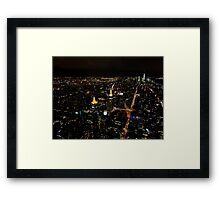 New York City by night... Framed Print