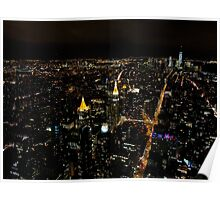 New York City by night... Poster