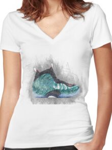 Gone Fishing Women's Fitted V-Neck T-Shirt