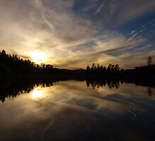 Goldwater Lake Reflection by Diana Graves Photography