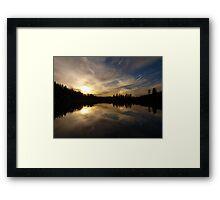 Goldwater Lake Reflection Framed Print
