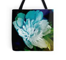 Blue Peony Flower Tote Bag