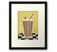 Delicious Milkshake Framed Print