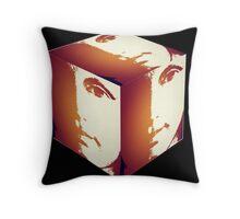 Facecube Throw Pillow
