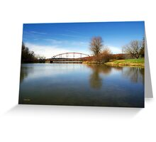 Solitude Bridge Landscape Greeting Card