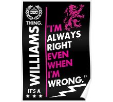 WILLIAMS THING Poster
