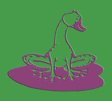duckfrog - frog, duck, funny, cartoon, cute, humor One Piece - Short Sleeve