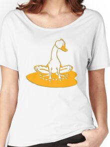 duckfrog - frog, duck, funny, cartoon, cute, humor Women's Relaxed Fit T-Shirt