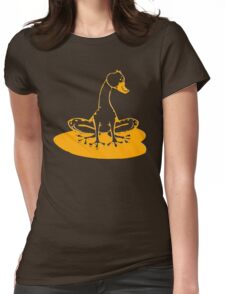 duckfrog - frog, duck, funny, cartoon, cute, humor Womens Fitted T-Shirt