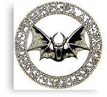 Ozzy Bat Orb Canvas Print