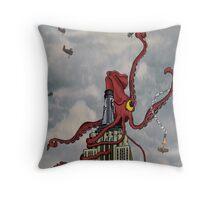 Squid Vicious Throw Pillow