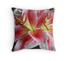 Stargazer Lilies Throw Pillow
