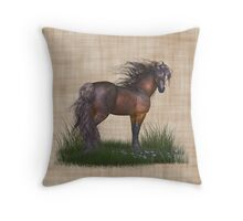 Horse in the Wild, tote, throw and tablet Throw Pillow