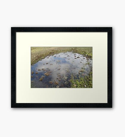Clouds In The Water Framed Print