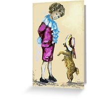 Boy and Dog Greeting Card