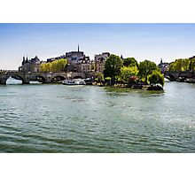River Seine and The Island Photographic Print
