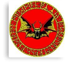 Ozzy Bat Orb 2 Canvas Print