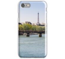 River Seine and The Eiffel Tower iPhone Case/Skin