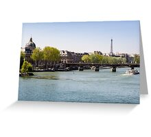 River Seine and The Eiffel Tower Greeting Card