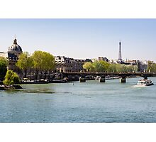 River Seine and The Eiffel Tower Photographic Print
