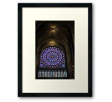 Inside The Notre Dame de Paris Framed Print