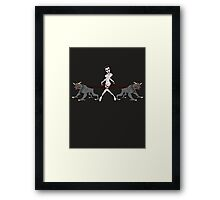 Gozer Walks Her Terror Dogs Framed Print