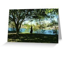Evening, Nerang river Gold Coast City Art Gallery Park  walk. Greeting Card
