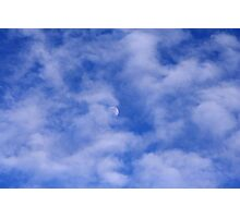 Cloud Play On The Moon Photographic Print