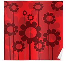 Floral background Poster