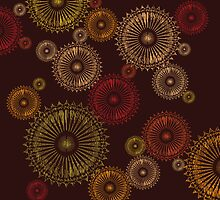 Stylized circles background by Richard Laschon