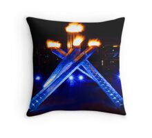 2010 Olympic Torch Throw Pillow