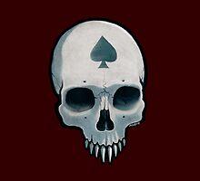 Vampire Skull Ace of Spades by pixbyr