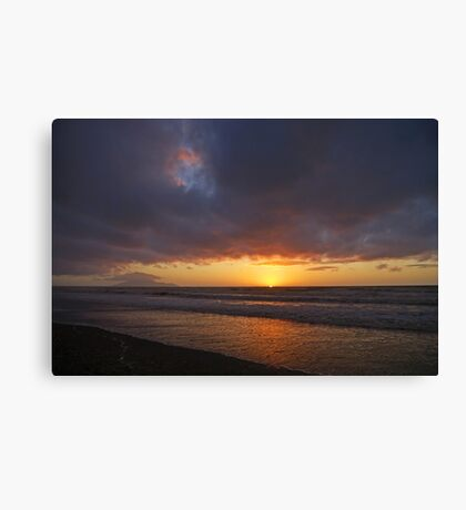 Seen in the Sunset Sky Canvas Print