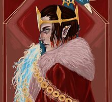 Elf king and the Phoenix by MonaDea