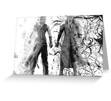 Cloud and Sephiroth Greeting Card