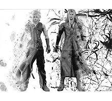Cloud and Sephiroth Photographic Print