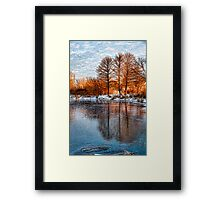 Cold Ice Trio - Lake Ontario Impressions Framed Print
