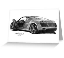 Forza III Audi R8 Greeting Card