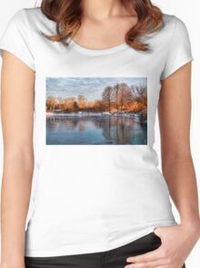 Cold Ice, Warm Light – Lake Ontario Impressions Women's Fitted Scoop T-Shirt