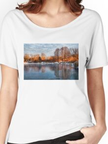 Cold Ice, Warm Light – Lake Ontario Impressions Women's Relaxed Fit T-Shirt
