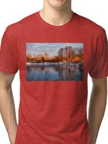 Cold Ice, Warm Light – Lake Ontario Impressions Tri-blend T-Shirt