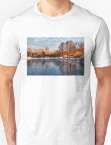 Cold Ice, Warm Light – Lake Ontario Impressions T-Shirt