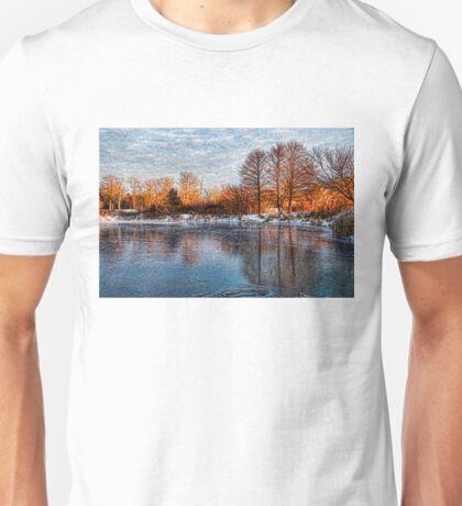 Cold Ice, Warm Light – Lake Ontario Impressions Unisex T-Shirt