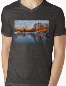 Cold Ice, Warm Light – Lake Ontario Impressions Mens V-Neck T-Shirt
