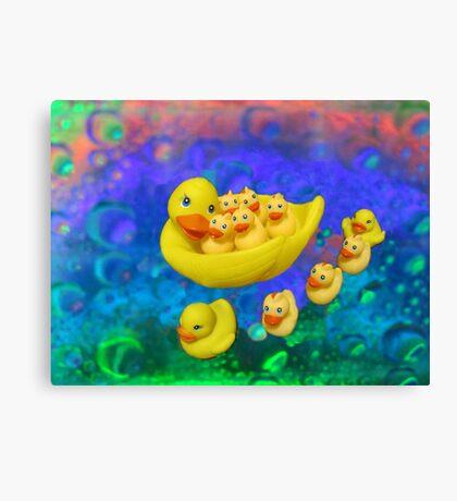 Swimming In Bubbles Canvas Print