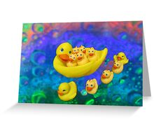 Swimming In Bubbles Greeting Card