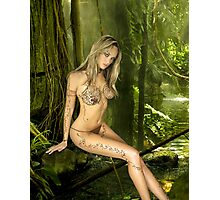 Jade in Rain Forest Photographic Print