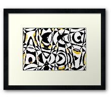 Anxiety Abstract Framed Print