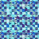 Abstract Blue Diamond Pattern by SaradaBoru