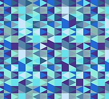 Abstract Blue Diamond Pattern by SaradaBoru